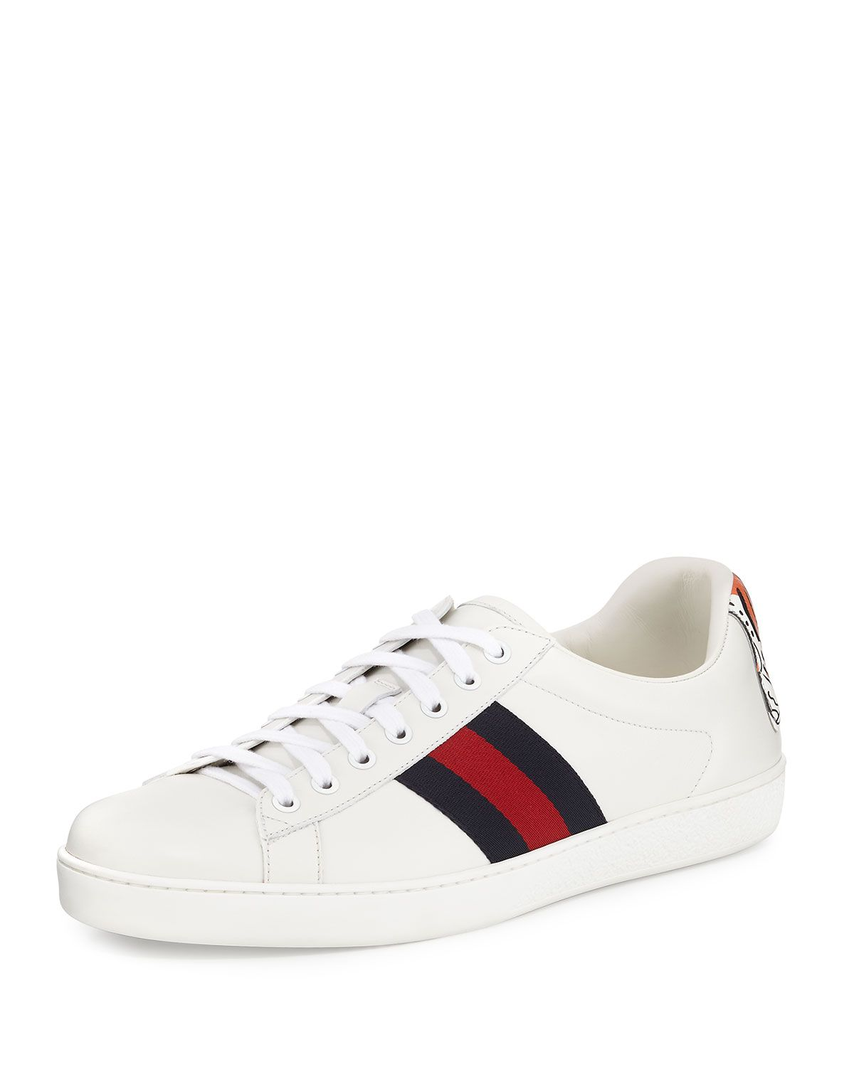 108911a0b New Ace Hanging Tiger Leather Low-Top Sneaker White | S-H-O-E-gasm ...