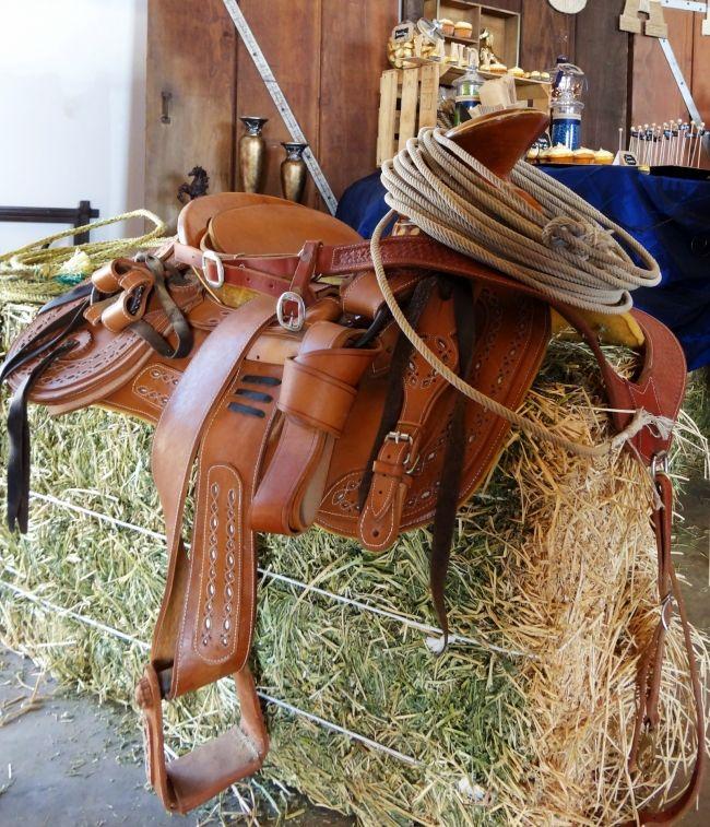 Boys Wild West Birthday Party Saddle Decorations