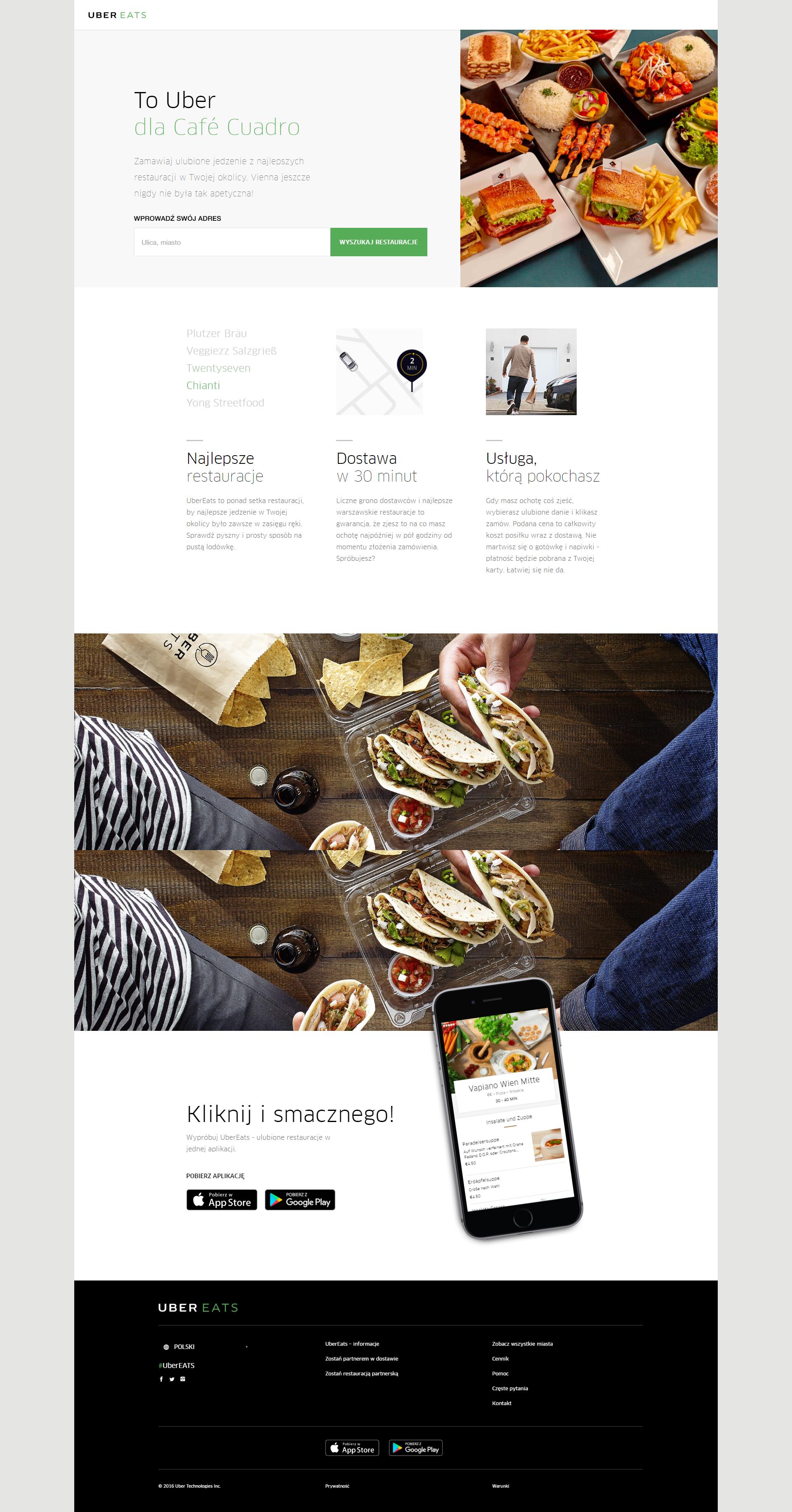 Ubereats Front Page Webdesign Web Design Cards Design