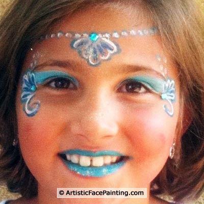 love this mermaid paryy pinterest kinderschminken fasching und gesicht schminken. Black Bedroom Furniture Sets. Home Design Ideas