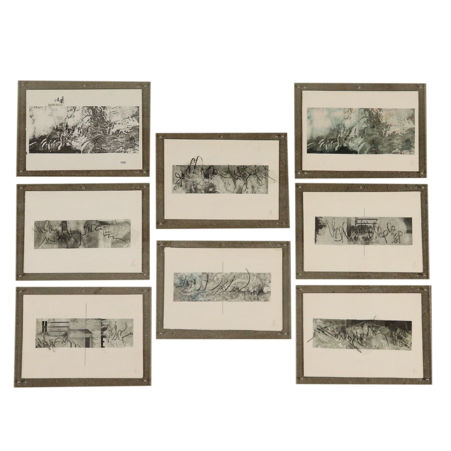 Set of Eight Collages Baltic Stories Contemporary Art #baltic