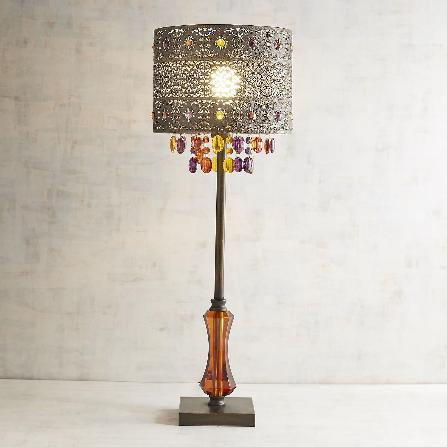 Bohemian Crystal Bronze Table Lamp Bronze Table Lamp Table Lamp Bohemian Lamp