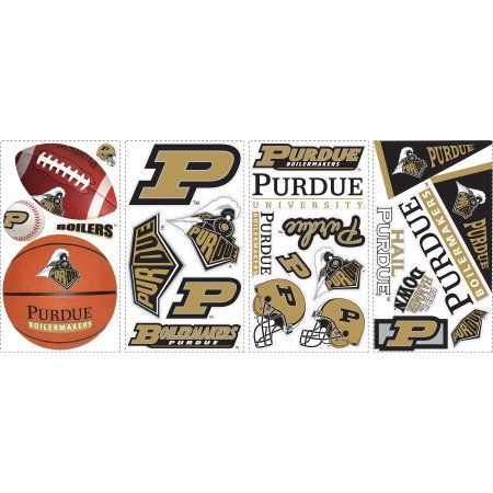 RoomMates Purdue Peel-and-Stick Wall Decals, Gold