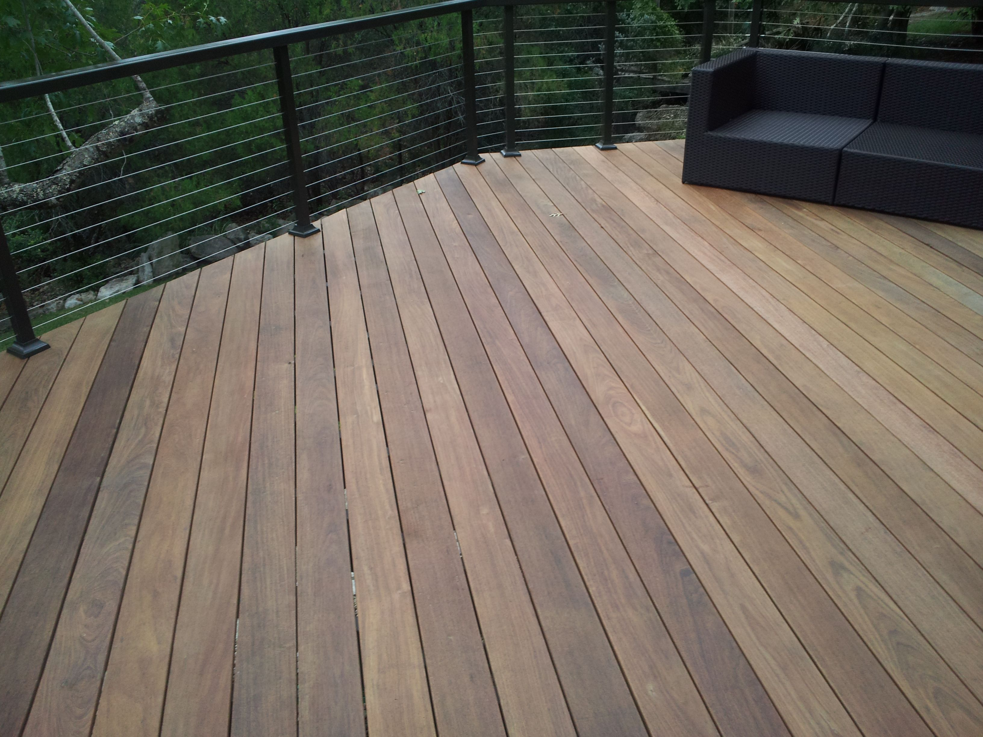 Ipe Hardwood Decking And Stainless Cable Railing