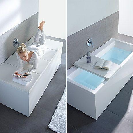 A Perfectly Fitted Shelf On The Bathtub Offers A Place For Relaxation  Afterwards And Can Make. Bathtub StorageDiy BathtubBathtub CoverBathroom ...