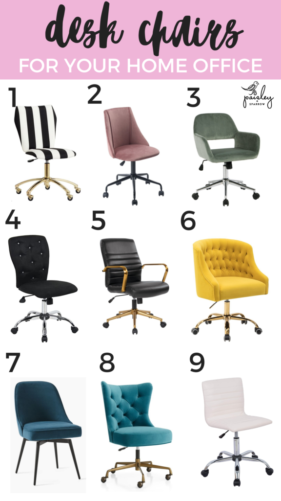 9 Of The Best Desk Chairs Paisley Sparrow In 2020 Best Desk Desk Chair Home Office Chairs