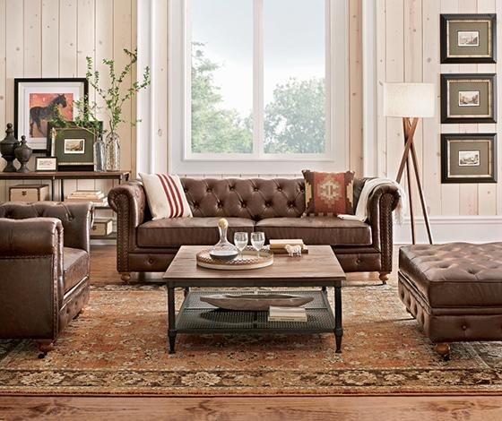 Home Decorators Com Brown Living Room Decor Brown Leather Couch