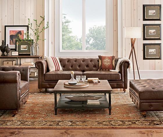 gordon brown leather sofa n meridian home decor brown leather rh pinterest com