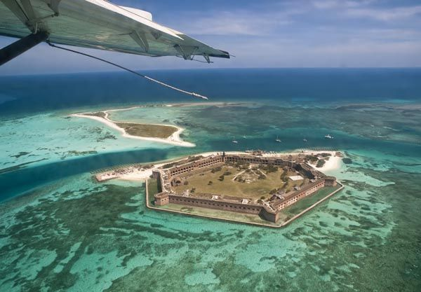 Take A Seaplane To The Dry Tortugas Fort Jackson 70 Miles West Of Key West Fl North Ame Romantic Vacations Vacations In The Us Romantic Vacations Spots