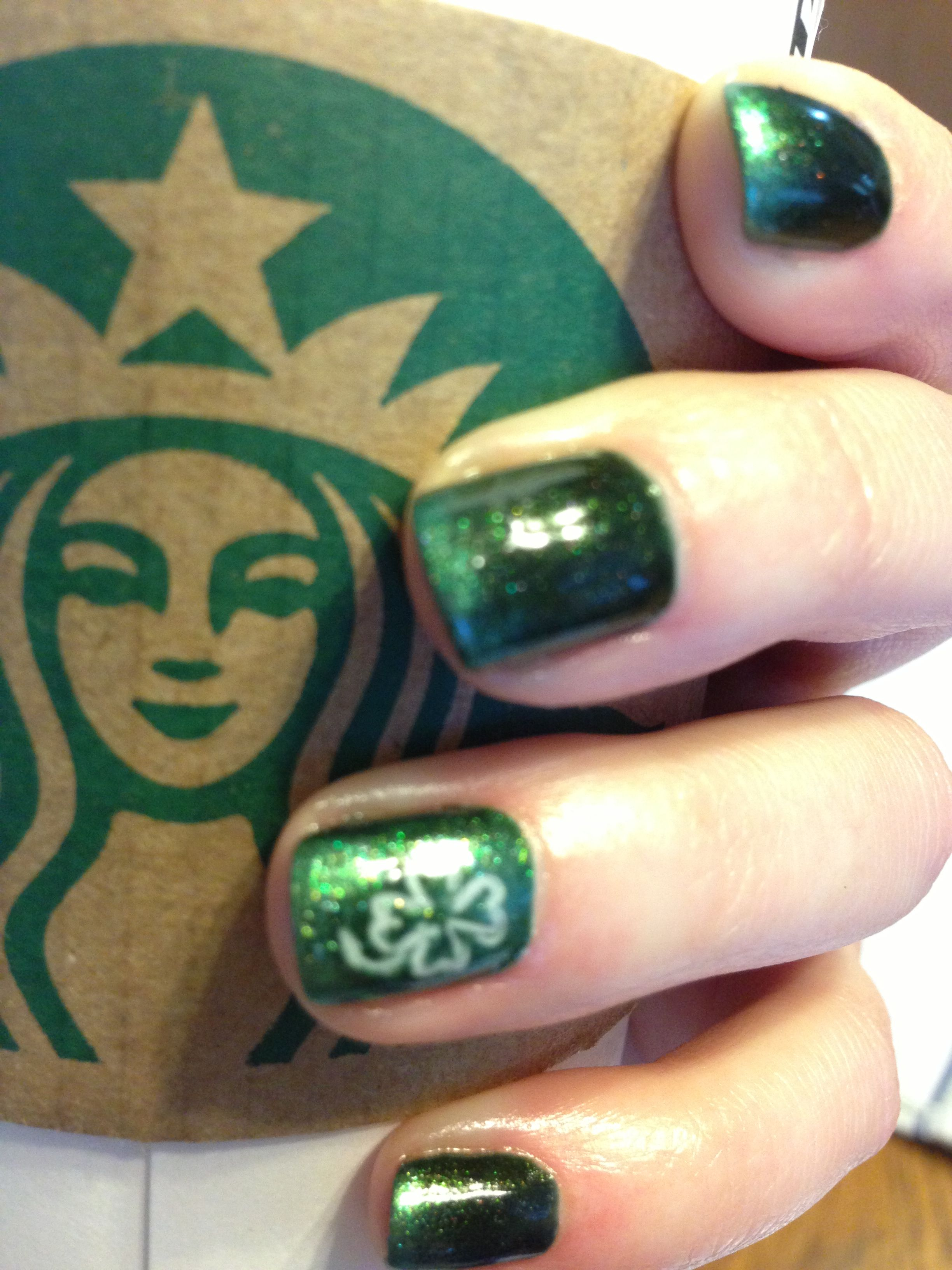 St Patricks Day Shellac nails by Suzanne Cox. | Nails | Pinterest
