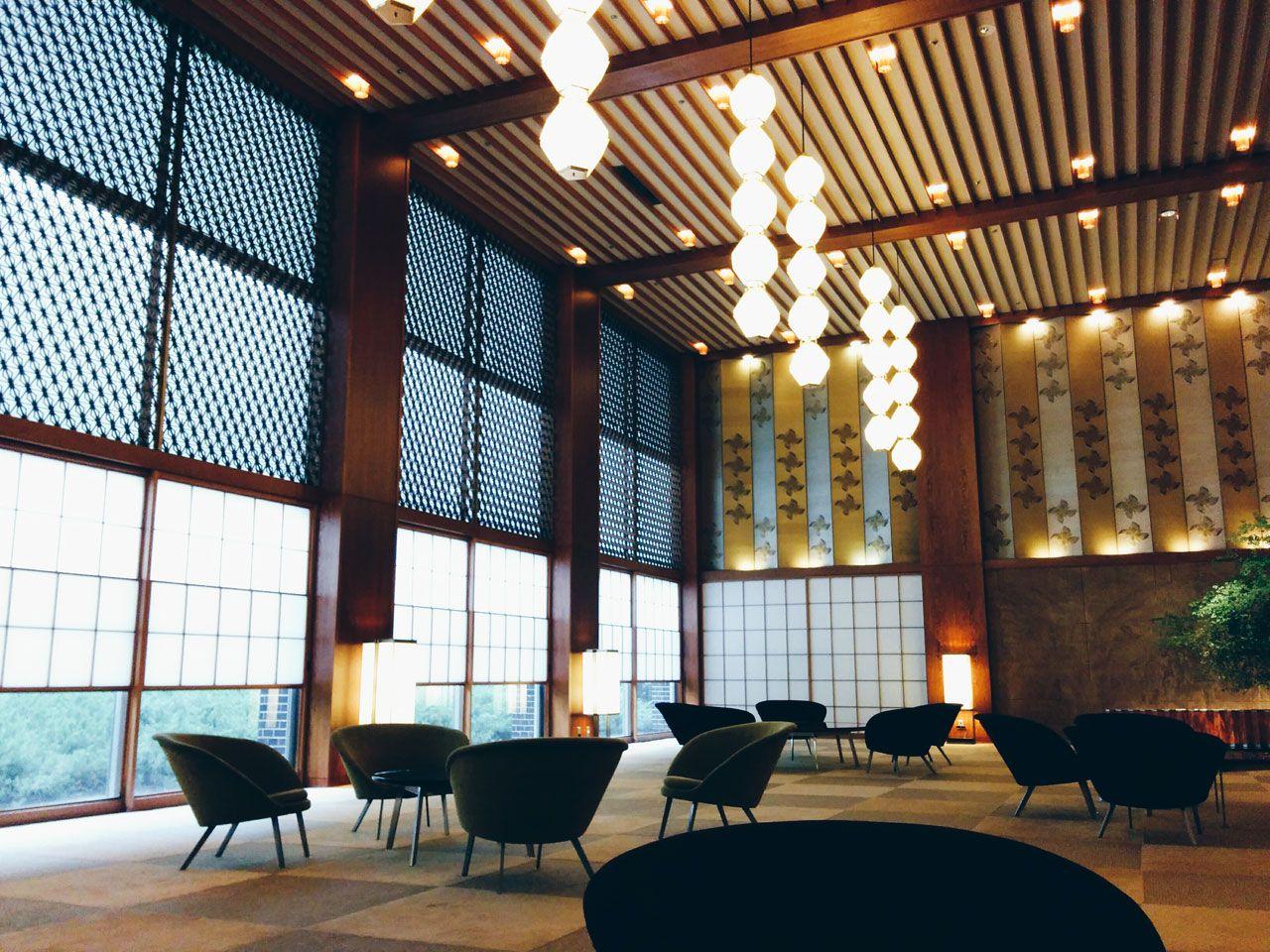 Yoshiro taniguchi the lobby of the hotel okura tokyo for Design hotel tokyo