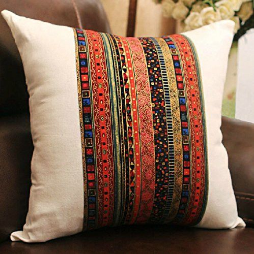 Bohemian Style Colorful Pillow Cover Decorative Throw
