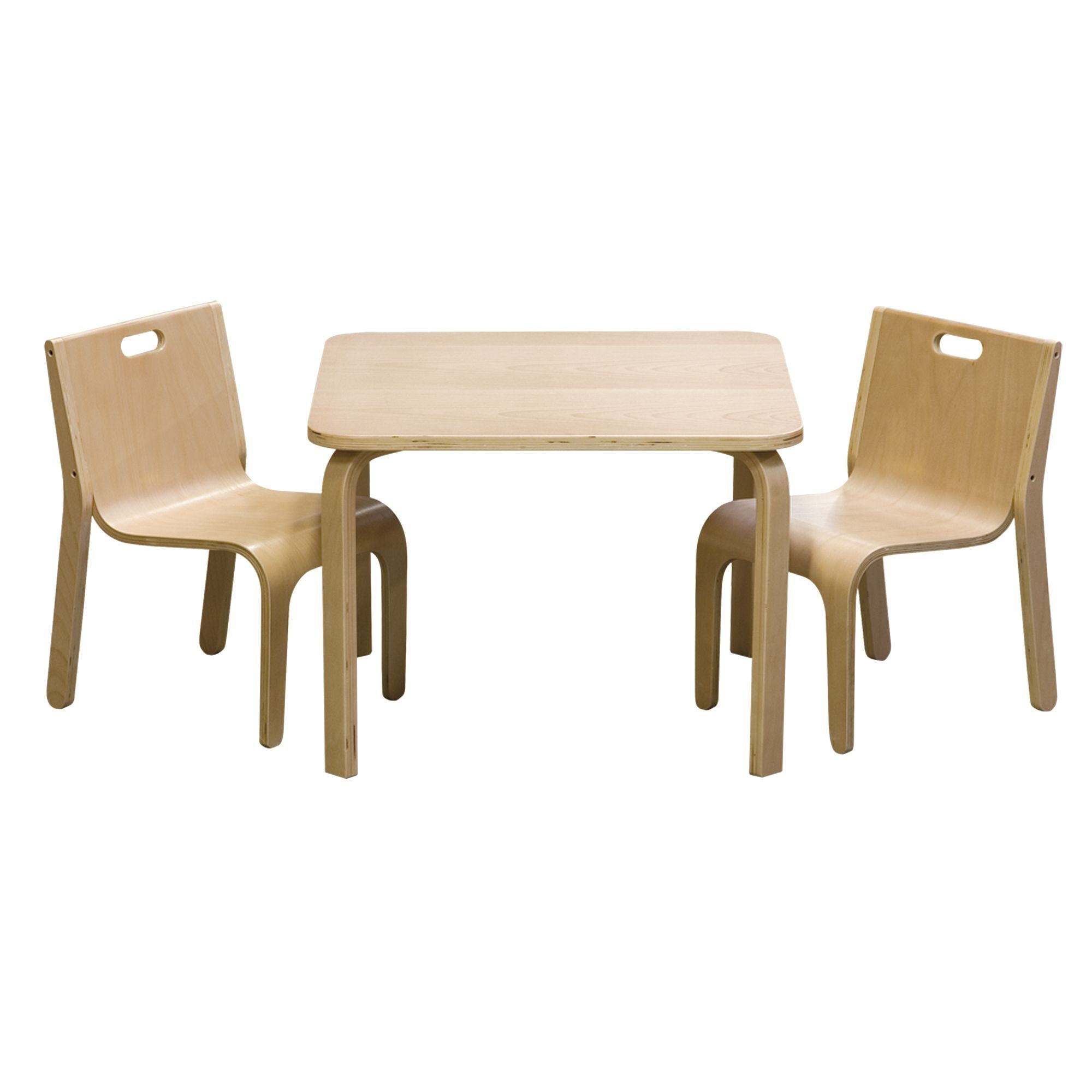 Chaise Design Enfant Set Table Et 2 Chaises Au Design Scandinave Pour Enfant Naturel