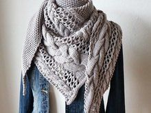Photo of Knit cloth // cable pattern + lace pattern