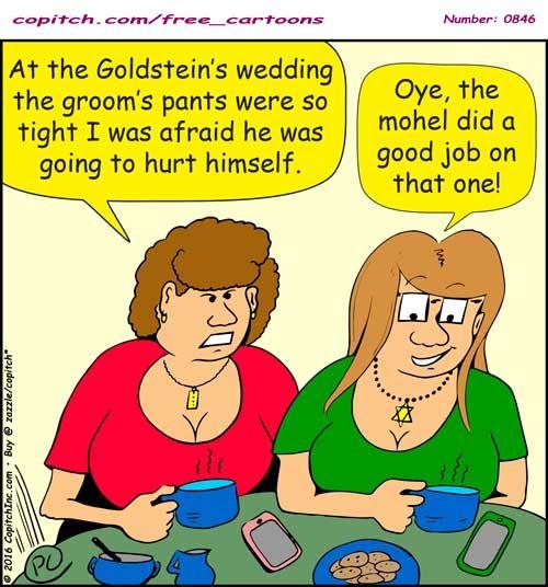 846 Copitch Cartoon Mohel Circision Jewish Wedding Groom