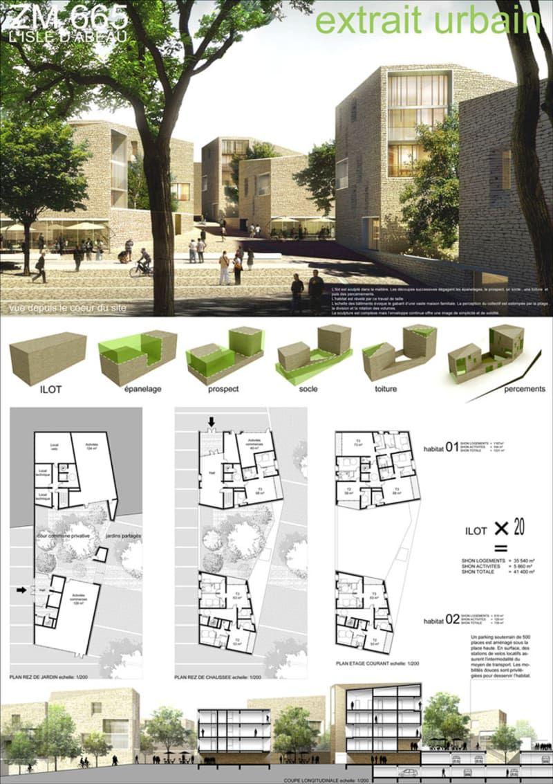 Mootz pel architectes extrait urbain logements for Architecture projet