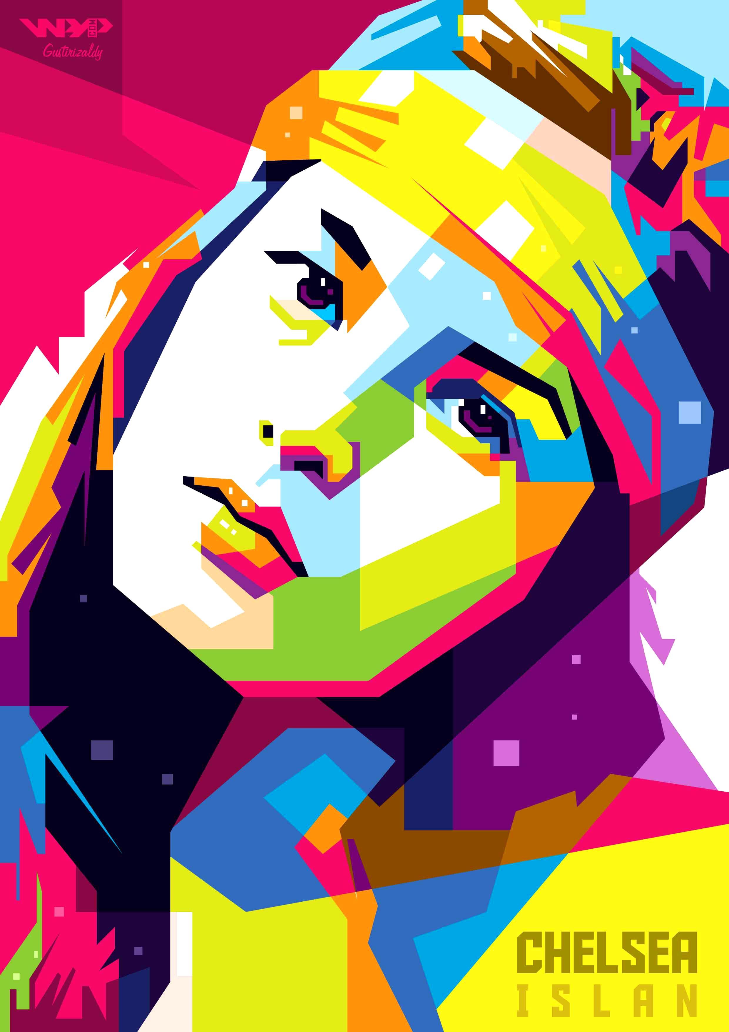 Chelsea Islan In Wedhas Pop Art Potrait For Order Zaldirizaldiyahoo Com