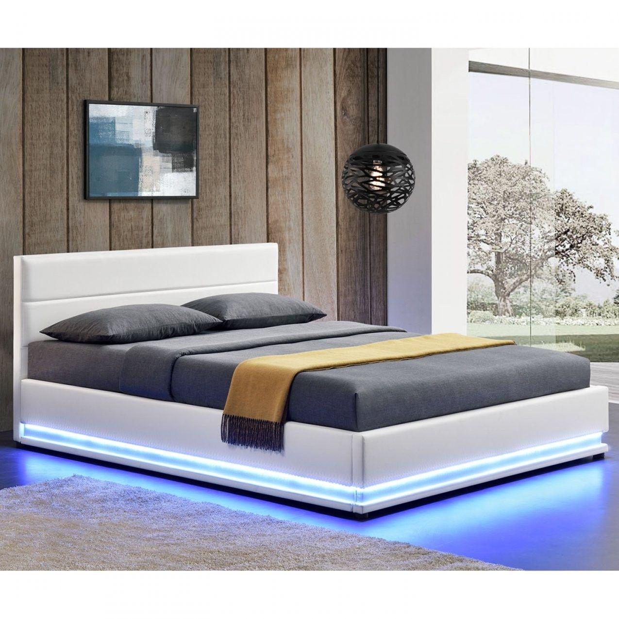 Polsterbett Led Doppelbett Bett Bettgestell Lattenrost Von Led Bett 120x200 In 2020 Wohnen Polsterbett Bett Mit Stauraum
