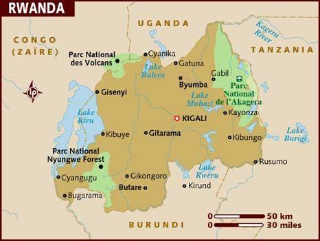 Rwanda Rwanda Lake Map Kigali