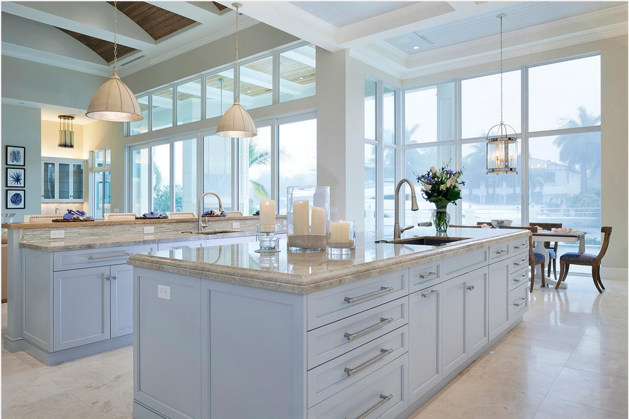 Übergangsküche, Marmor Arbeitsplatten, Fensterwand, Entwurf, Küchen,  Fotografie, Hellblau, Haushaltsgeräte