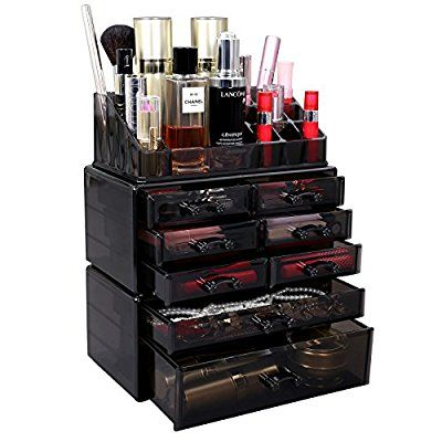 83bee51a07b3 SONGMICS Makeup Organizer Cosmetic Storage Display Boxes Jewelry ...