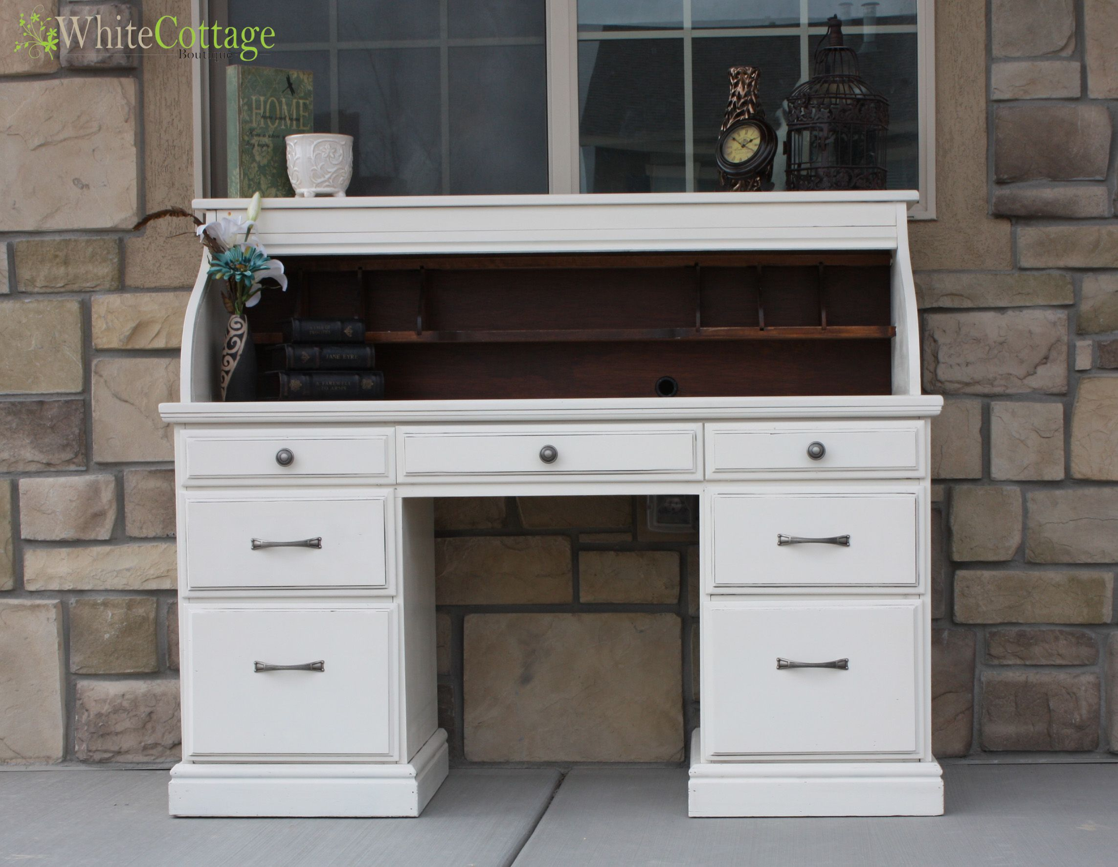 rolltop desk - love the inside being stained | furniture i love