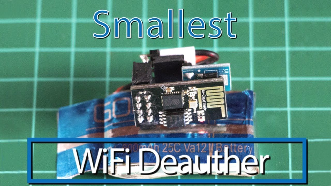 Smallest WiFi Deauther | ESP8266 | Flash drive, USB flash