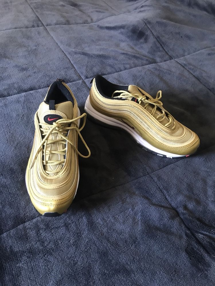 79d585969fab Nike Air Max 97 Ultra Womens Size 10 Gold white  fashion  clothing  shoes   accessories  womensshoes  athleticshoes (ebay link)