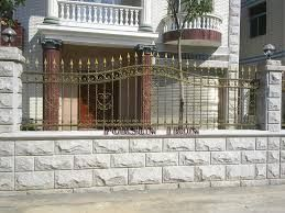 Wrought Iron Fence On Top Of Block Wall Google Search Exterior