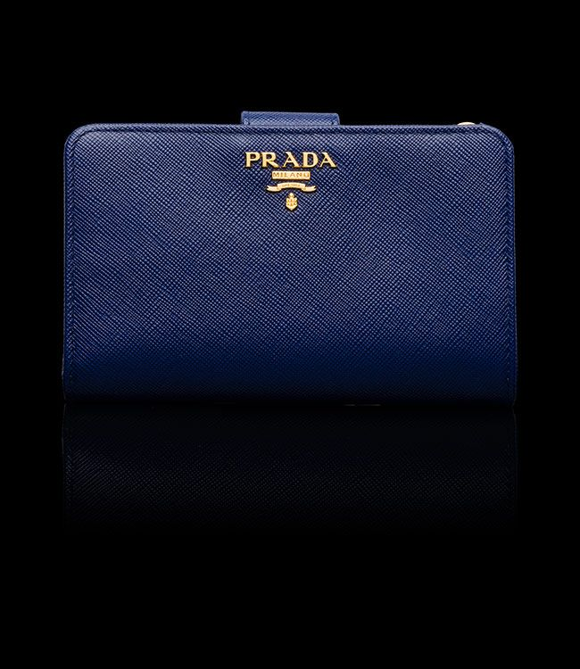 a5713588f329 Prada bi-fold wallet (ink blue) | Cozy Things I'd love to wear ...