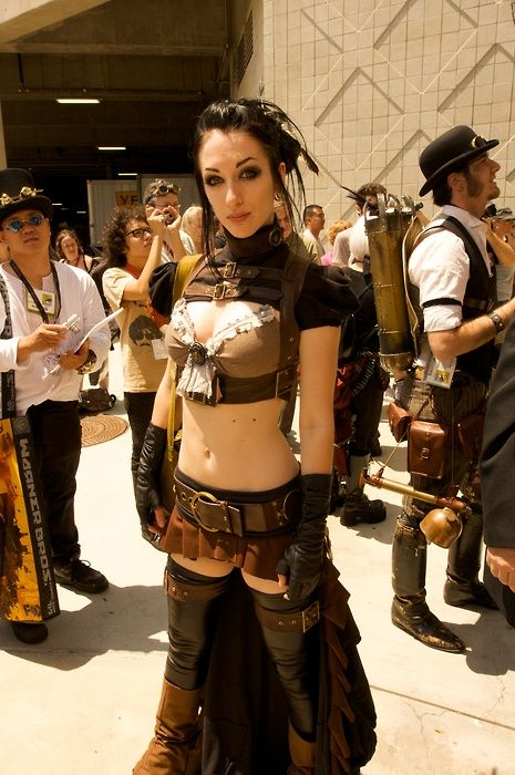 Steampunk goggles. Decent looking for a mass produced costume item.
