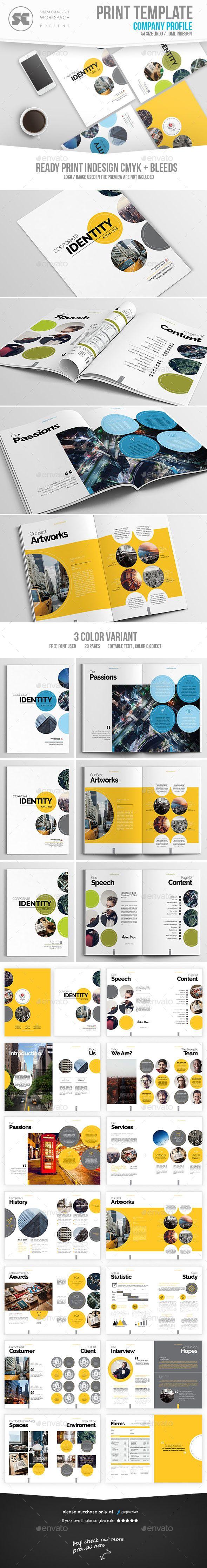 Company profile | Plantilla de folleto, Folletos y Plantas