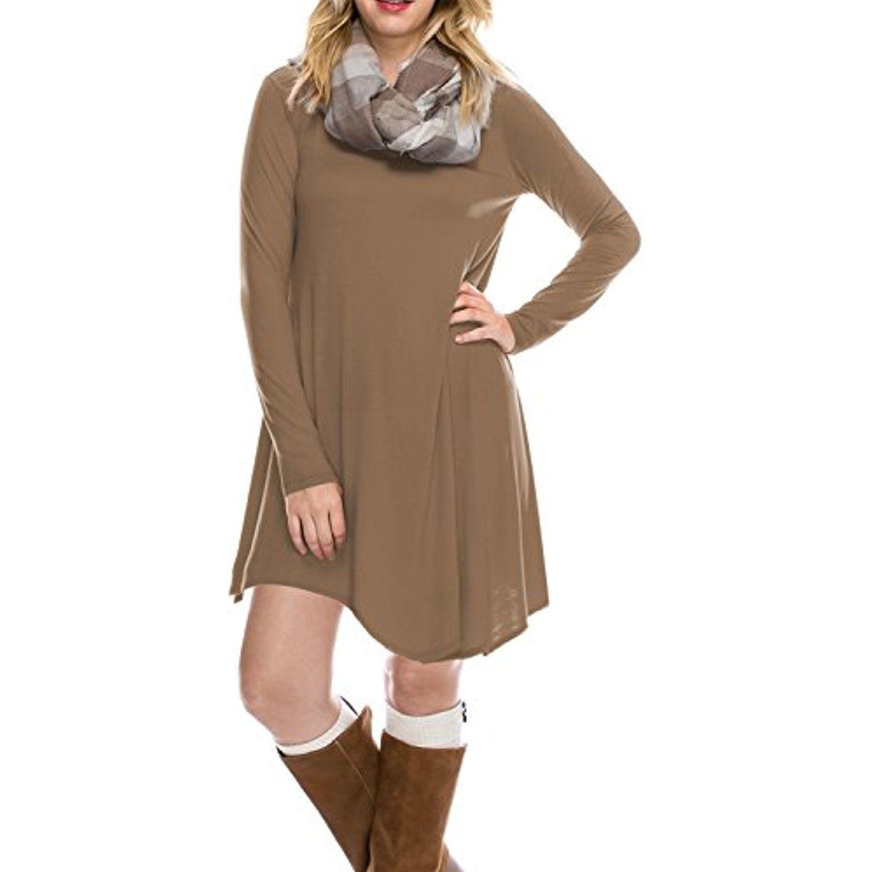 Bily womenus long sleeve plus sizes available casual loose tshirt