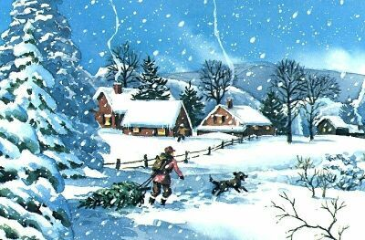 animated winter slide show screen saver features 8 thomas kinkade