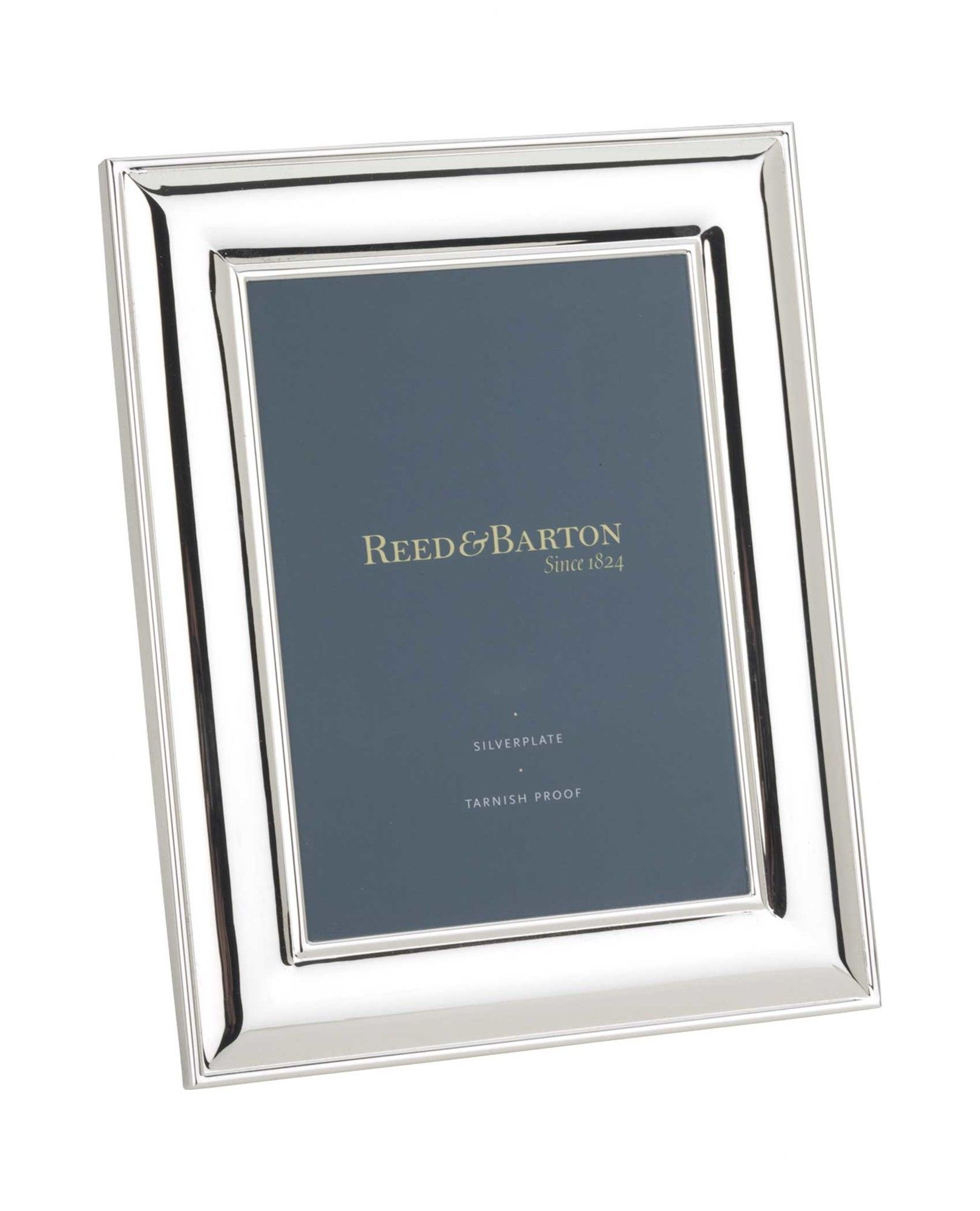 Newton Bevel 5 X 7 Silverplated Picture Frame Picture Frames Reed Barton Picture Frame Sizes