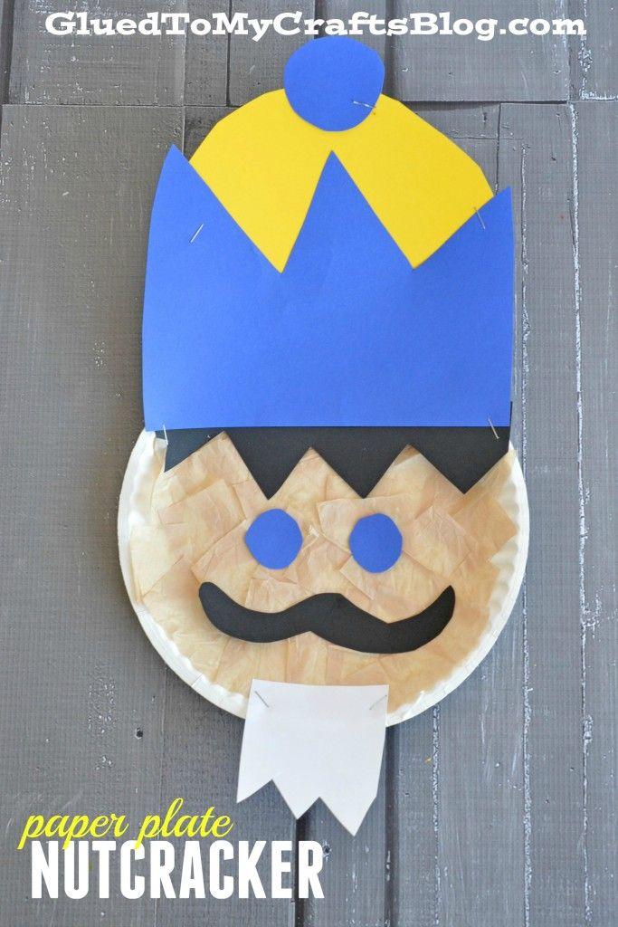 Paper Plate Nutcracker - Kid Craft & Paper Plate Nutcracker - Kid Craft | Craft Paper plate crafts and ...