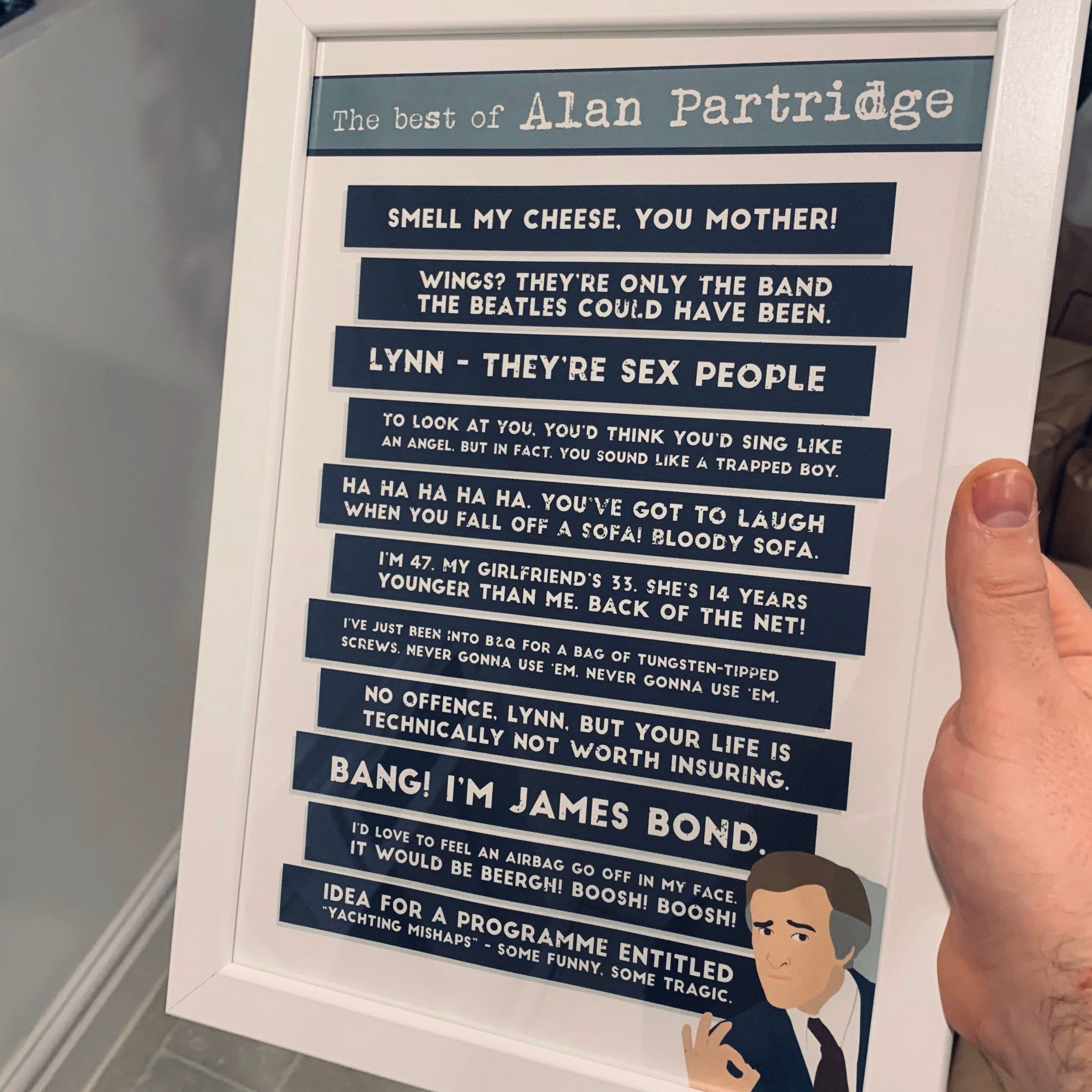 Alan Partridge Best Of Funny Tv Show Quotes A3 A4 Poster Print