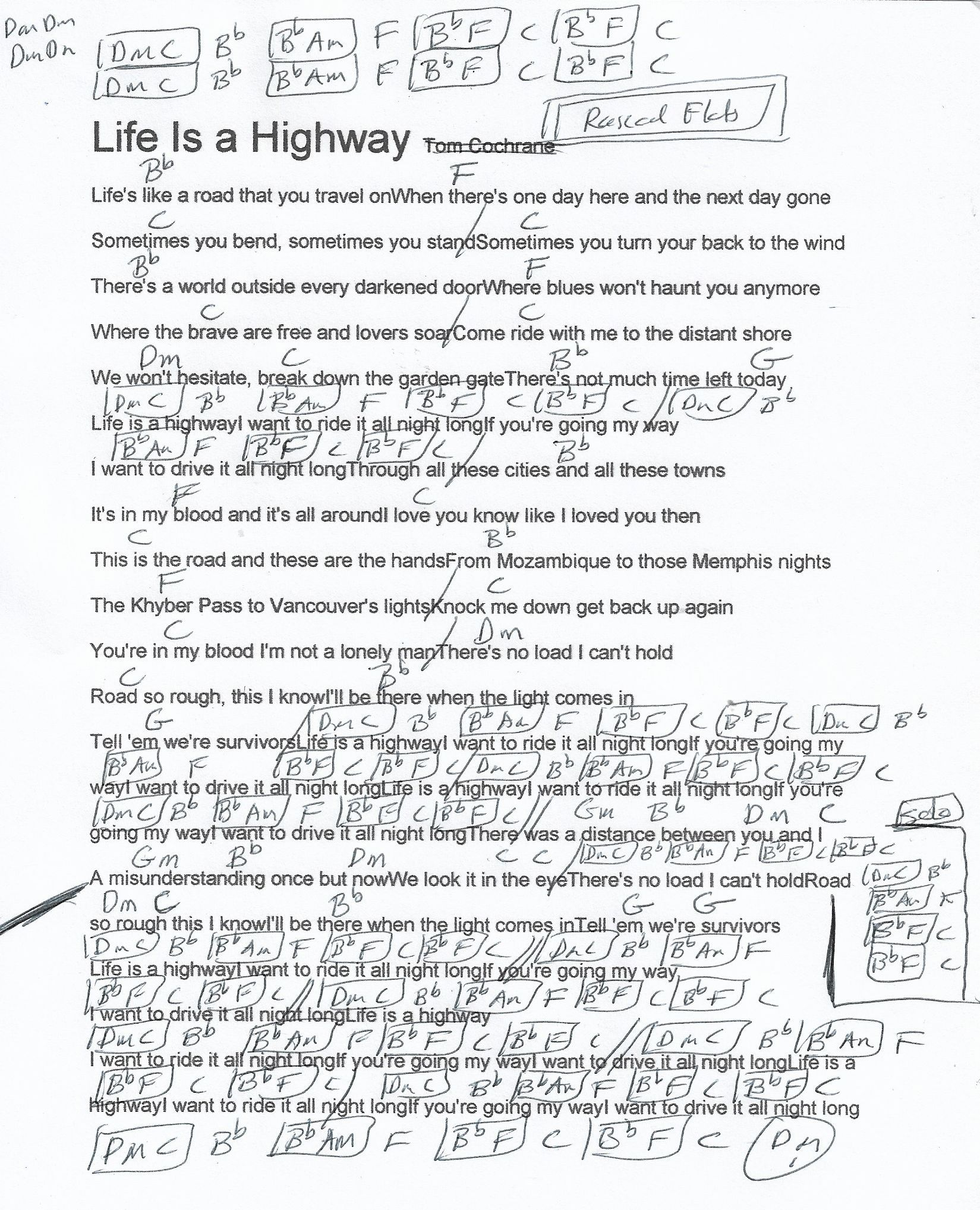 Life Is A Highway Rascal Flats Guitar Chord Chart In F Major Real Key Guitar Chord Chart Guitar Chords Songs