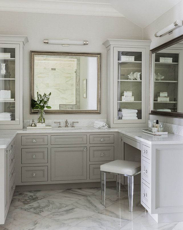 15+ White painted bathroom cabinets inspiration