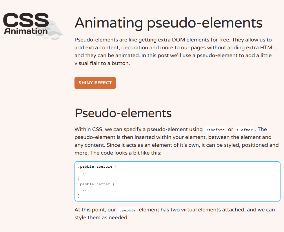 Animating Pseudo-Elements, #Animation, #Buttons, #Code, #CSS, #CSS3, #HTML, #HTML5, #Pseudo_Elements, #Tutorial, #Web #Design, #Development