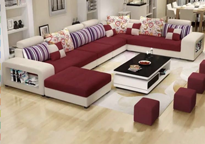 Wholesale Factory Wholesale Fabric U Shaped Sectional Sofa Modern European Style Was Living Room Sofa Design Living Room Sofa Set Furniture Design Living Room