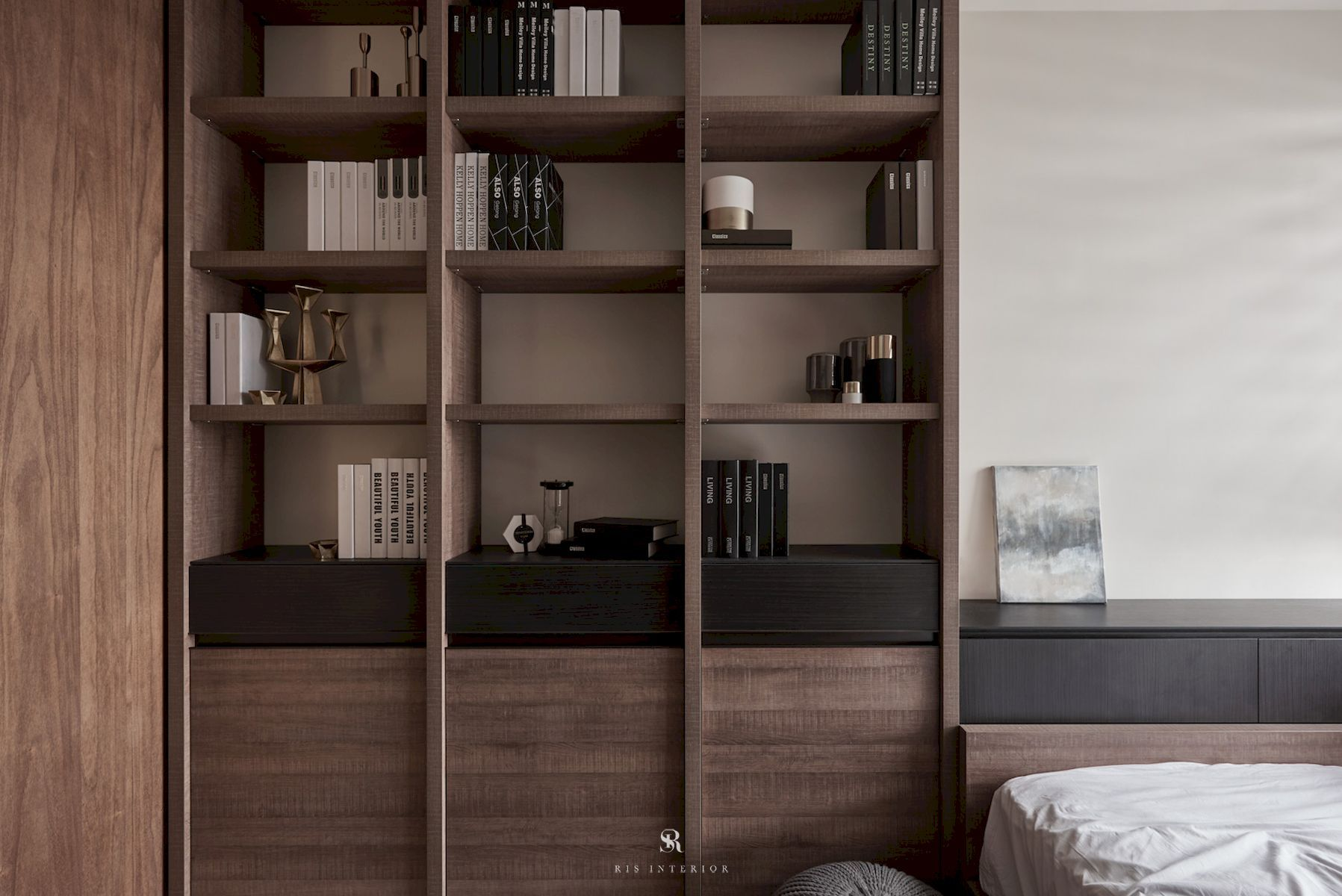 Nook, Reading Room, Home Library, Home Office Ideas And Inspiration Styles:  Asian, Minimalist Colors: Wenge Wood Features: Shelving From Apartment  Project: ...