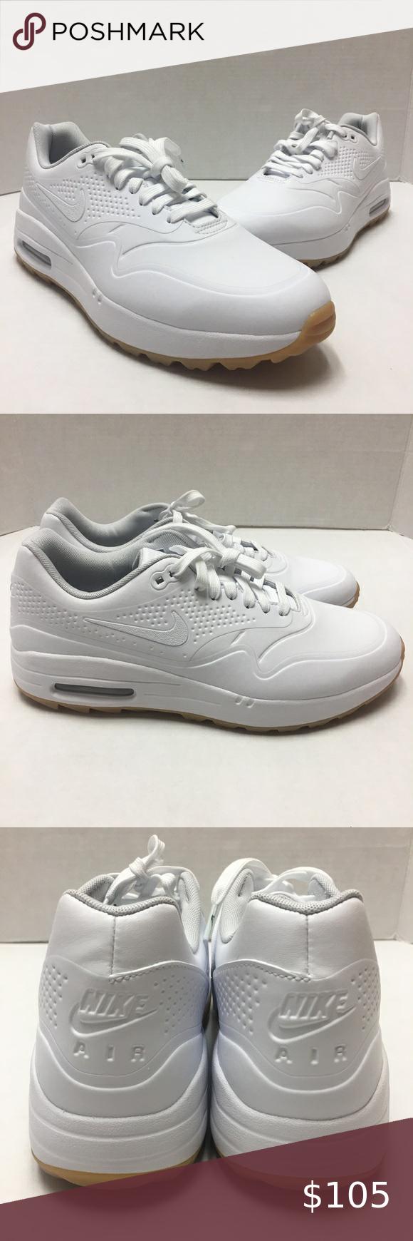 Nike Air Max 1 G Golf Shoes Spikeless White Gum Nike Air Max 1 G Golf Shoes Spikeless White Gum Sole Size Women S 10 5 Men In 2020 Nike Air Max Golf Shoes Nike Air