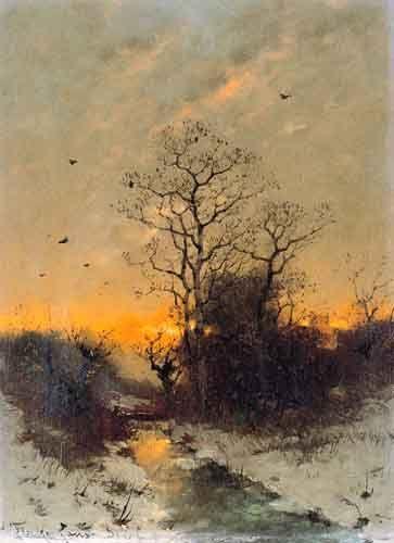 Heinz Flockenhaus Zimowy wieczór