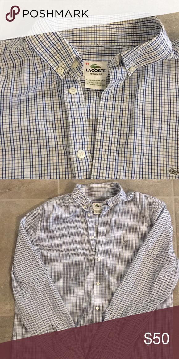 42a97b71 Large 44 men's Lacoste shirt Size 44 men's button down Lacoste shirt ...