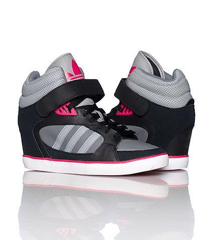 aecdae4c0faf adidas WOMENS AMBERLIGHT WEDGE SNEAKER Black