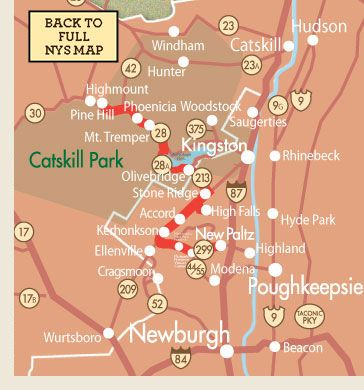Hudson Valley Scenic Drive Map