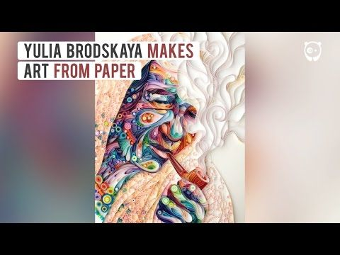 Yulia Brodskaya creates incredible 3D paper art using quilling technique…