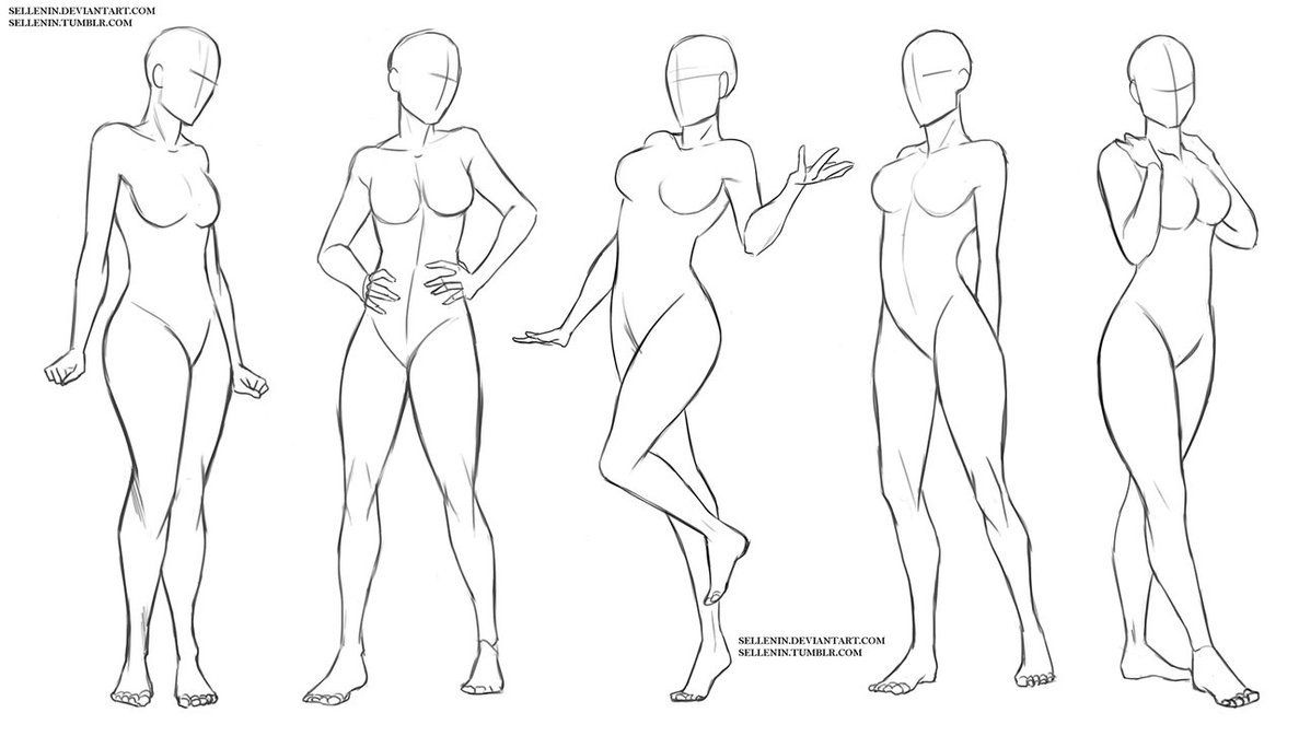 Figure Woman Drawing Poses