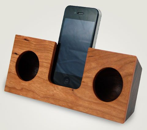 apple iphone accessory wood koostic dock sound   Timber ...